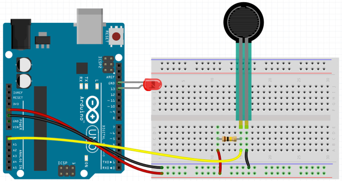 Arduino Analog Input FSR