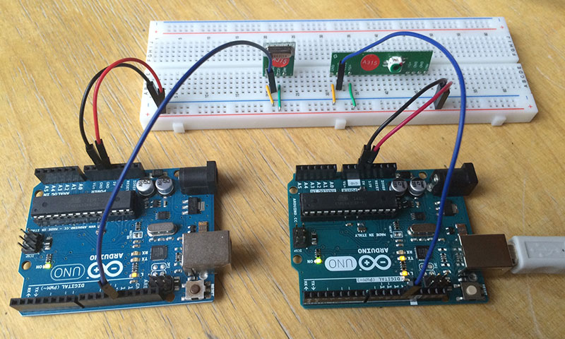 RF Link Modul mit Arduino